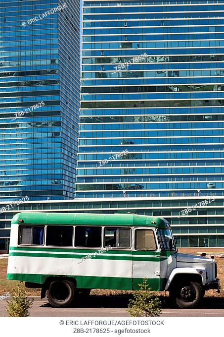 Old bus in Astana, Kazakhstan