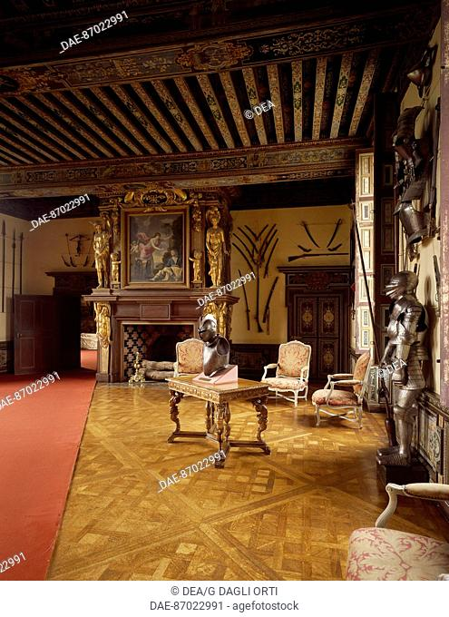 Armory, Chateau de Cheverny, Loire Valley (UNESCO World Heritage List, 2000). France, 17th century
