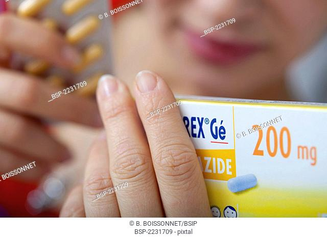 WOMAN TAKING GENERIC DRUG Model