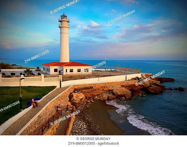 The lighthouse in Avenida del Faro, Torrox Costa, Costa Del Sol,