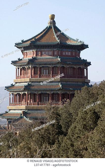 Pagoda of Buddhist Virtue at the Summer Palace. Beijing. China