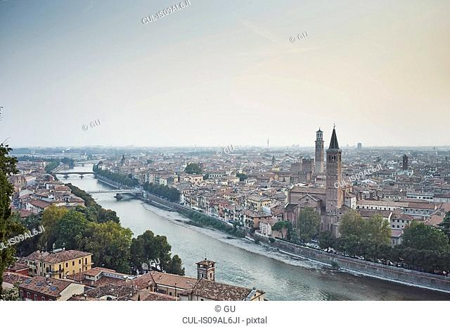 Elevated view of Verona, Italy