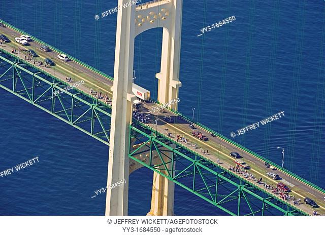 The Mackinac Bridge Walk is an annual event held every Labor Day since 1958 in Michigan in which people may walk the length of the Mackinac Bridge Walkers are...