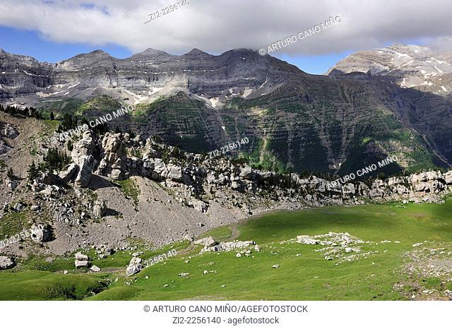 Valley of Pineta, Aragonese Pyrenees. Bielsa, Huesca, Spain