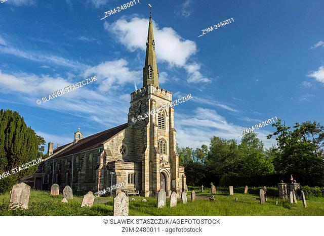 Spring afternoon at St Mark church in East Sussex, England, United Kingdom. High Weald