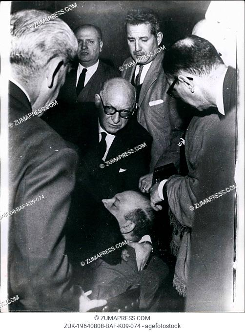Aug. 08, 1964 - Guest Injured AT Buenos Aires Dinner To Former President Of The Argentine: During a dinner given in honour of ex-Pres