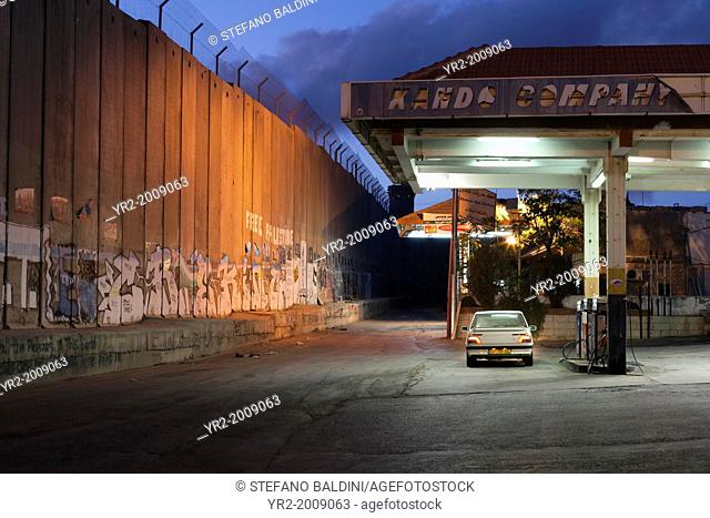 The separation wall in Bethlehem,Palestine