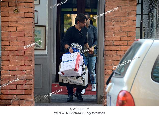 Eros Ramazzotti celebrates his birthday in Milan Featuring: present Where: Milan, Italy When: 28 Oct 2016 Credit: WENN.com