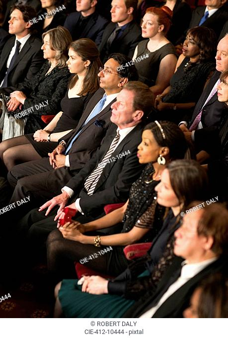 Attentive theater audience
