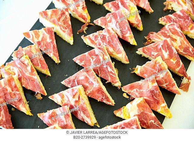 Ham canapes, Catering congress