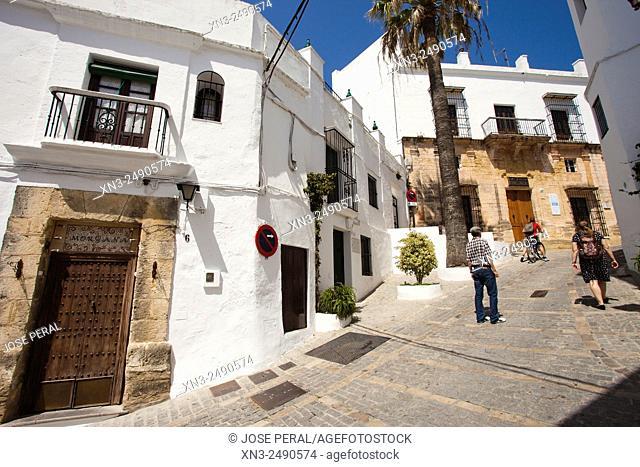 Del Olivo street, Vejer de la Frontera, White Towns or Pueblos Blancos, Cádiz province, Andalusia, Spain