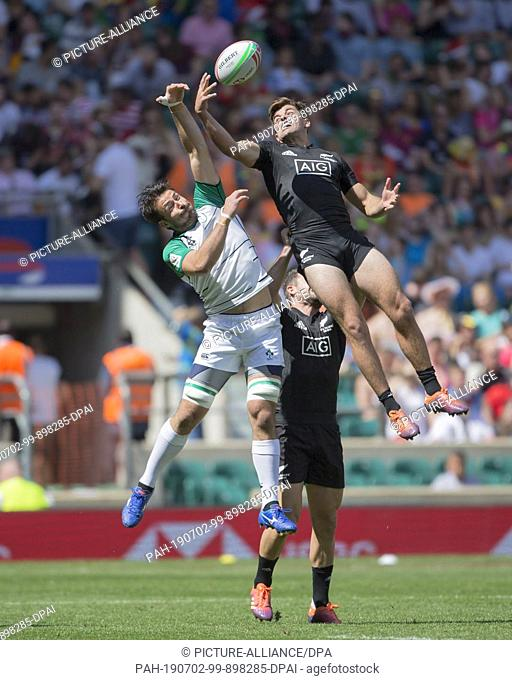25 May 2019, Great Britain, London: The penultimate tournament of the HSBC World Rugby Sevens Series on 25 and 26 May 2019 in London (GB)