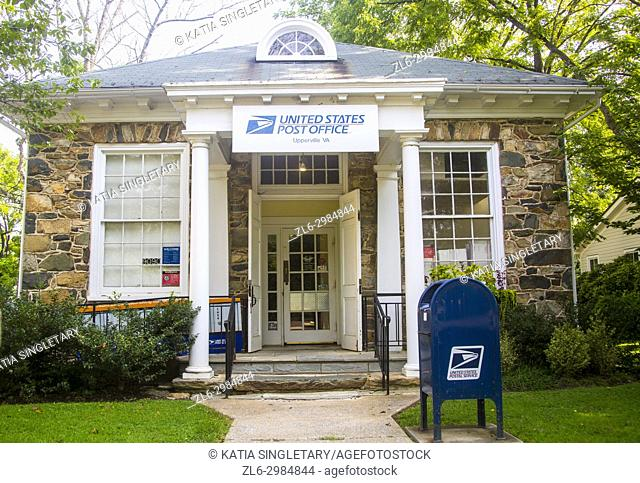 United States charming post office in a small upper class farm town, Upperville in Virginia