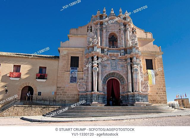 Basilica-Santuario de la Santisma y Vera Cruz within the castle walls at Caravaca de la Cruz, Murcia