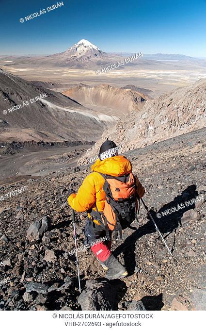 Parinacota volcano. Sajama National Park. Bolivia