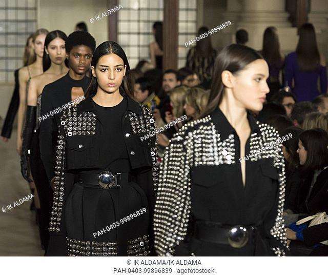 David Koma runway show at London Fashion Week February 2018 - Autumn / Winter 2018. London, UK 19/02/2018.   usage worldwide
