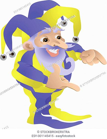 Funny Jester illustration