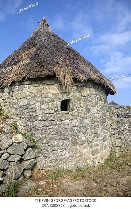 Castro de Santa Trega Village, La Guarda, Galicia, Spain