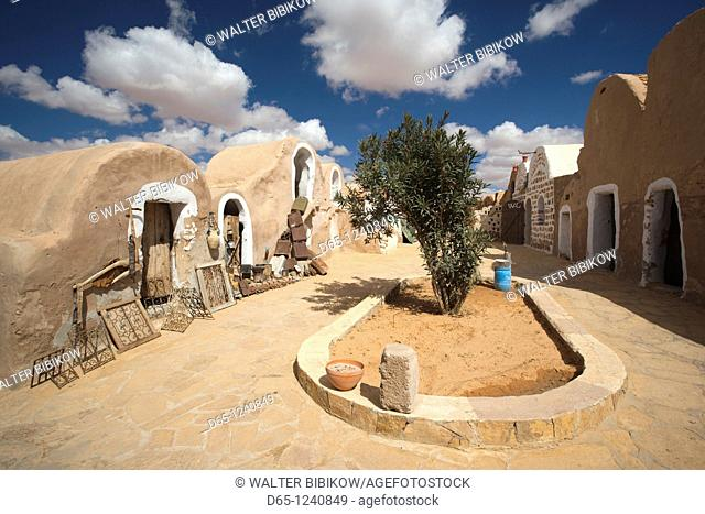 Tunisia, Ksour Area, Ksar Haddada, Hotel Ksar Haddada, seen in the film Star Wars IV-A New Hope
