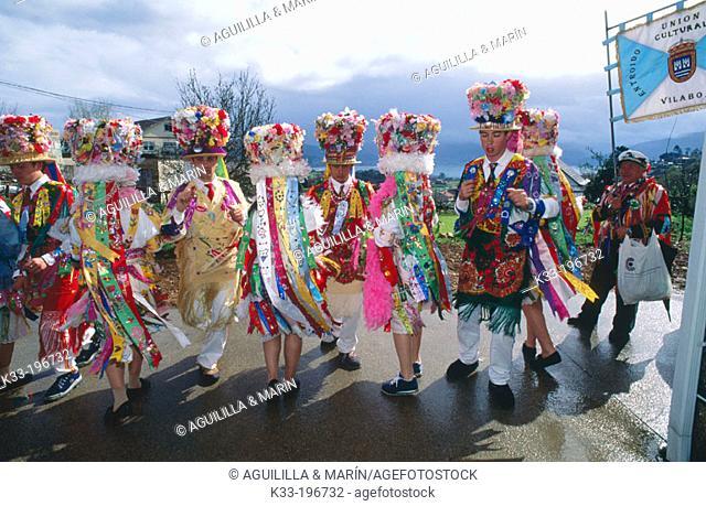 'Madamas y galanes', carnival. Cobres. Pontevedra province. Spain