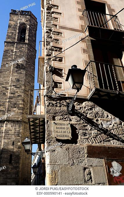 Plaça Sant Just, Barrio Gotico, Barcelona