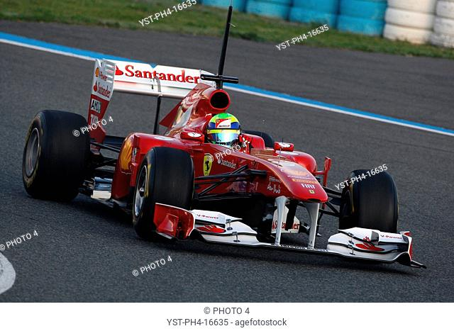 Felipe Massa, Testing, Jerez de la Frontera, Espanha
