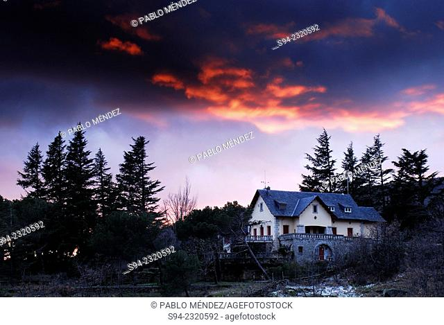 Isolated house near Miraflores de la Sierra, Madrid, Spain