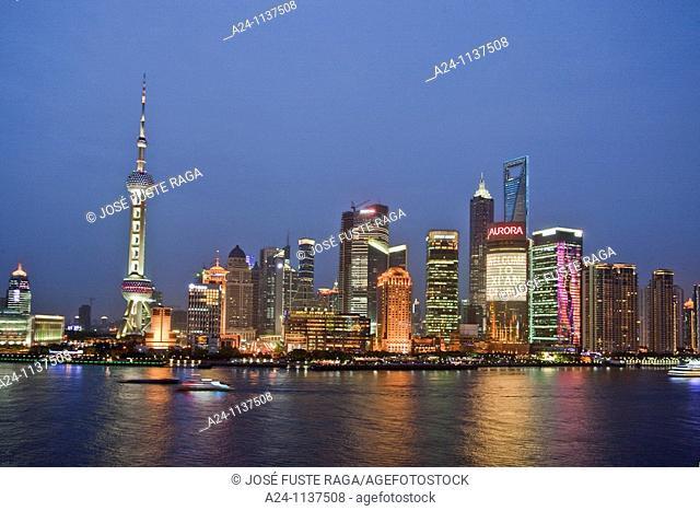 China-May 2010 Shanghai City Pudong District Skyline