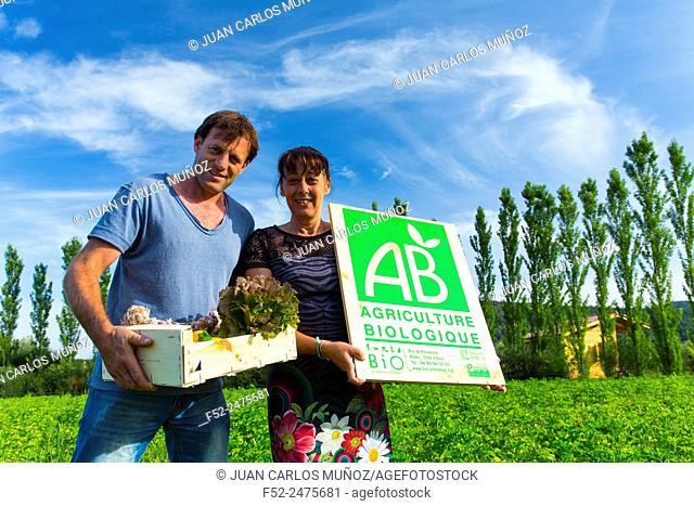 Organic farming and eco-cottage Les Terres du Vançon, Les Demesses, Volonne, Val de Durance, Alpes Haute Provence, France, Europe