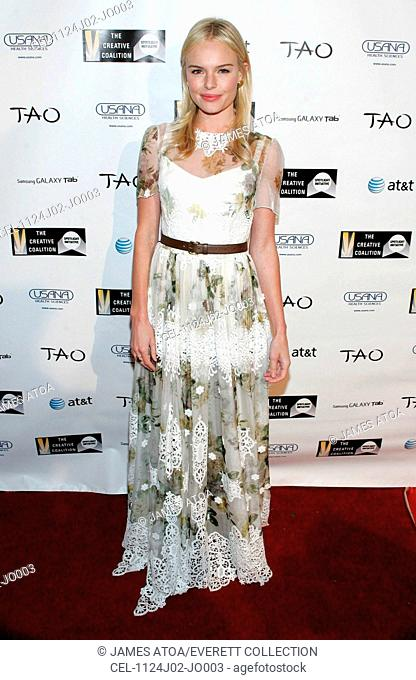 Kate Bosworth (wearing a Dolce & Gabbana dress) at arrivals for The 2011 Creative Coalition Spotlight Initiative Awards, TAO at the Lift, Park City