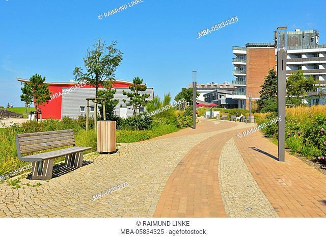 Boardwalk, Sankt Peter-Ording, Norderdeich, North Sea, Schleswig-Holstein, Germany