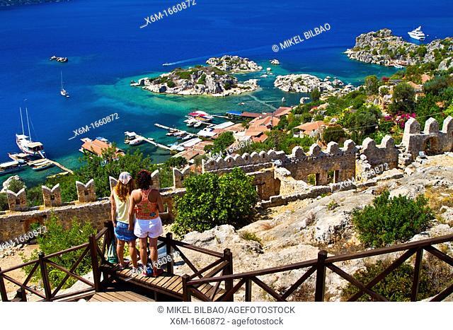 Kaleköy  Antalya province  Mediterranean coast  Turkey