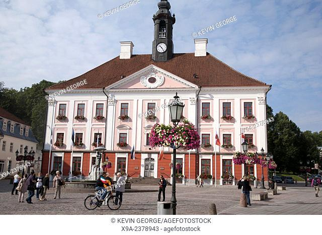 City Hall and Main Square - Raekoja Plats, Tartu, Estonia