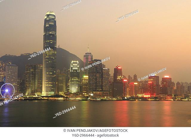 Hong Kong at Sunset, China