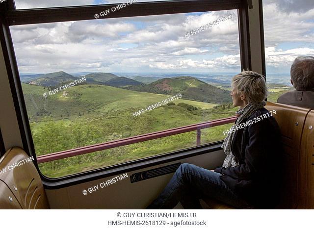 France, Puy de Dome, Parc Naturel Regional des Volcans d'Auvergne (Natural regional park of Volcans d'Auvergne), Chaine des Puys, Orcines, the Puy de Dome