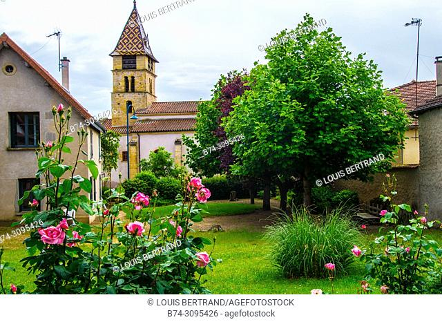 typical village of Loire in the forez