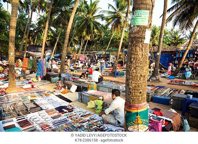 Wednesday Flea Market in Anjuna, Goa, India