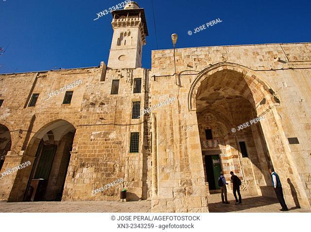 Silsila Minaret and Chain Gate, Temple Mount, Old City, Jerusalem, Israel