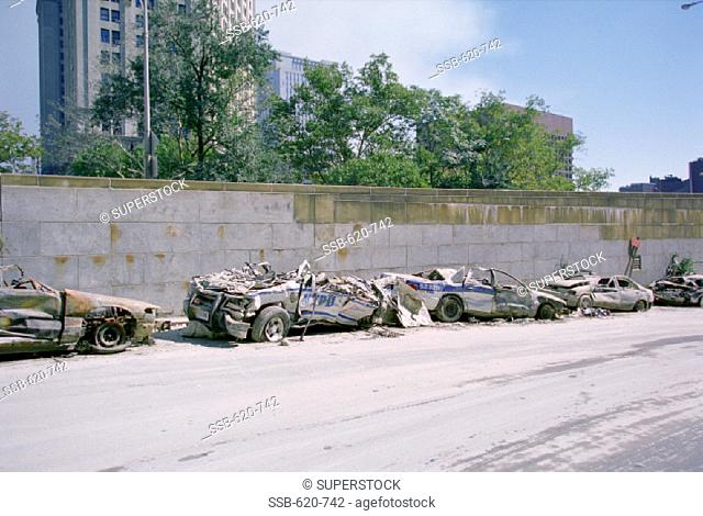 World Trade Center Attack Aftermath, September 2001 New York City USA