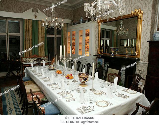 Dinner table at Montpellier Hall, Brighton