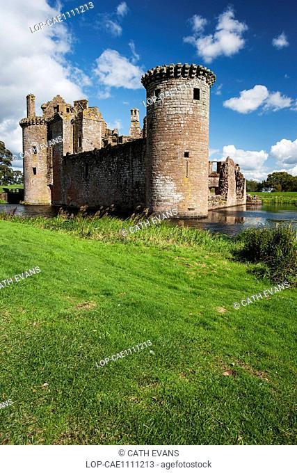 A view toward Caerlaverock Castle