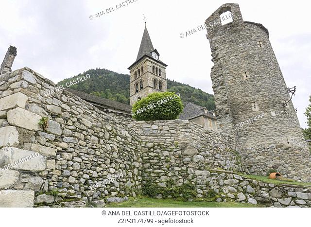 Santa Maria de Arties church Aran valley Catalunya Spain