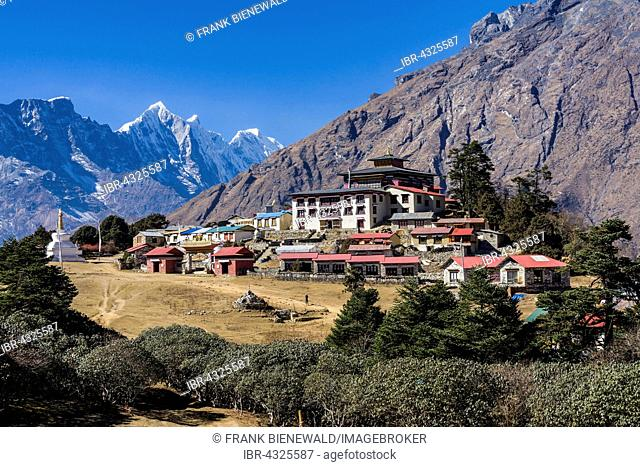 View of Tengboche Gompa monastery, located on an altitude of 3850m, Tengboche, Solo Khumbu, Nepal