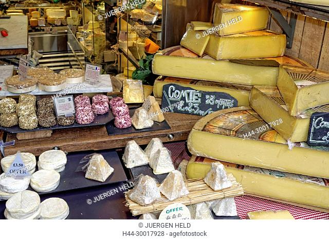 United Kingdom, England, London, Southwark, Borough Market, Gourmet Food, Cheese