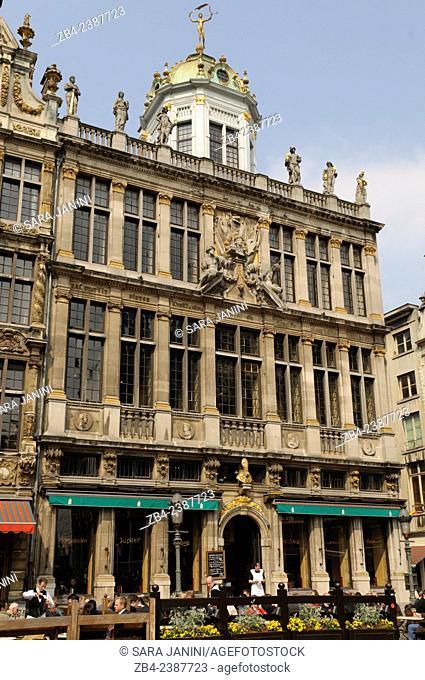 Le Roi d'Espagne (Maison des Boulangers) built in 1697 was originally the House of the Baker's guild, Grand Place or Grote Markt, UNESCO World Heritage Site
