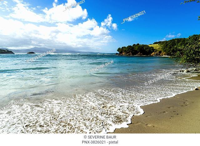 Tartane's beach, Caravelle's peninsula, Martinique, France