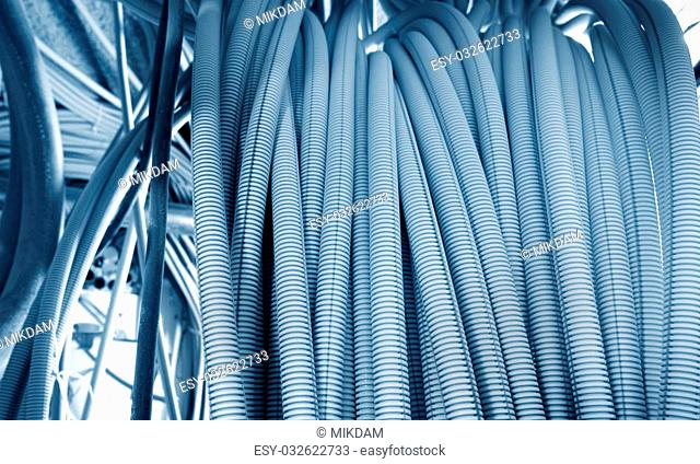 Electrical cables in an industrial installation