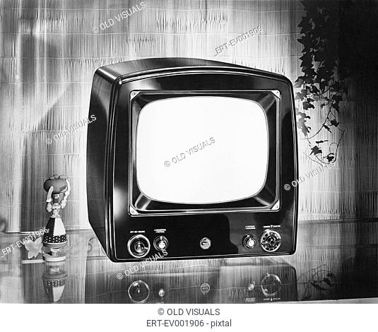 Philco brand portable television, circa 1952 All persons depicted are not longer living and no estate exists Supplier warranties that there will be no model...