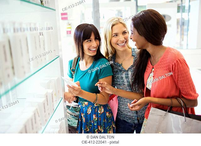 Women shopping together in drugstore