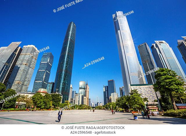China, Guangdong Province, Guangzhou City, Wuyan New Town,International Financal Center and East Tower